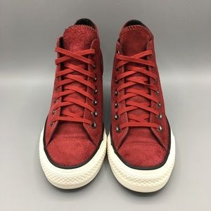 Converse Shoes - Converse All Star CT Lux Mid Suede Dahlia wedges